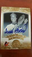 2004 FRANK ROBINSON Auto SP #11  UD Timeless Teams GOLD 1/5 Short Print !