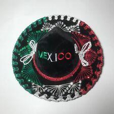 8ad7ca1ec04 Gonzalez Sombrero Black Red Green Silver Thread Sequins Silver Cording  Mexico