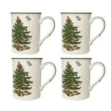 Spode Christmas Tree Set of 4 Mugs Cup Gift Set Festive Seasonal