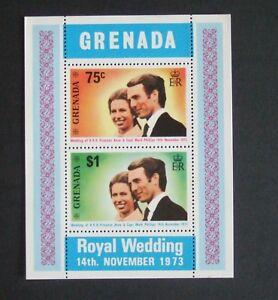 Grenada 1973 MS miniature sheet MNH UM unmounted  Princess Anne Mark Phillips