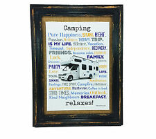 Camping relaxes Druck Poster A4 Mobile Home Camper Caravan gift AnneSvea Typo