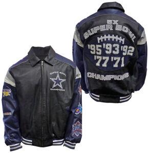 Dallas Cowboys 5x Superbowl Champions Leather Jacket