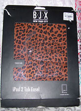 NEW BJX NEW YORK CARAMEL PRINT IPAD 2 TAB EASEL RETAIL $69.99 DAMAGED PACKAGE