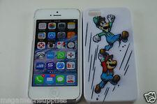 Super Mario Bros Mario & Luigi Jumping Hard Plastic Full Back Case - iPhone 5 5S