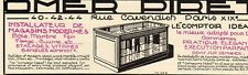 OMER PIRET COMPTOIR IDEAL INSTALLATEUR MAGASIN PARIS PUBLICITE 1929 FRENCH AD