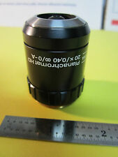 OPTICAL MICROSCOPE OBJECTIVE AUS JENA GERMANY GF PLANACHROMAT 20X OPTICS A3-15