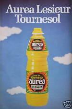 PUBLICITÉ 1980 HUILE DE TOURNESOL AUREA LESIEUR - ADVERTISING