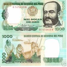 PERU 1000 Soles Oro Banknote World Money Currency Bill South America Note p122