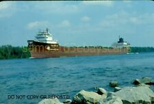ORIGINAL SLIDE INLAND STEEL CORP LEON FALK JR. LAKE FREIGHTER SOO MICH 1979