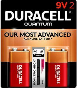 Duracell Quantum 9V Alkaline Batteries 2 Pack (Damaged Packaging)