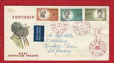INDUNESIEN   (0429 17) FDC EINSCHREIBEN 5-10-1961 GELAUFEN NACH HAMBURG