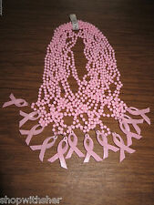 12 X PINK RIBBON BREAST CANCER BEADED NECKLACES DECORATE FLOWERS AND GIFTS TOO!!