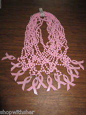 12 X PINK RIBBON BREAST CANCER NECKLACES DECORATE FLOWERS WINE BOTTLES TOO!!