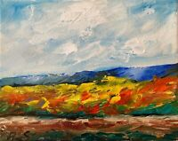 Mountains Hills California IMPRESSIONIST Oil Painting TEXTURE Modern Landscape