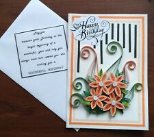 Handmade Paper Quilling Greeting Cards-Happy Birthday