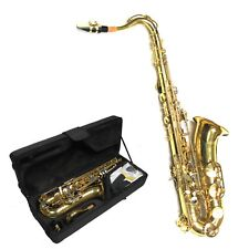 Tenor Saxophone laiton-Sax Set (valise, soins, embout buccal) or, plaquettes-BB