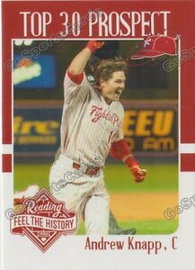 2017 Reading Fightin Phils Top 30 Prospects Andrew Knapp RC Rookie Phillies