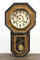 vintage Regulator pendulum clock wall wood french country decor Parts Repair