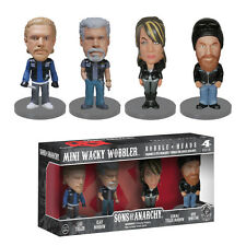 SONS OF ANARCHY FUNKO MINI WACKY WOBBLER BOBBLE HEADS 4 PACK FIGURES