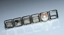 Vintage MIKIMOTO Sterling Silver Cultured Pearl Tie Bar Clasp