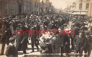 Hampshire - CHRISTCHURCH, Memorial Procession for King Edward VII - Real Photo
