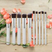 Pro 10pcs Makeup Cosmetic Blush Brush Foundation Eyebrow Powder Blender Brushes
