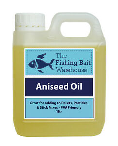 Aniseed Oil for Fishing 1ltr - 20ltr, High Attract, Bait Dip, Carp, PVA friendly