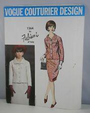 Fabiani VOGUE COUTURIER DESIGN PATTERN 1364 Two Piece Suit Size 12 Uncut w Label