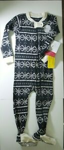 Burt's Bees Baby Boy's One Piece Footed Pajamas Footy Christmas Holiday SZ 18 MO