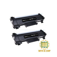 2PK TN760 High Yield Toner With Chip fit For Brother DCP-L2550 HL-L2350 TN730