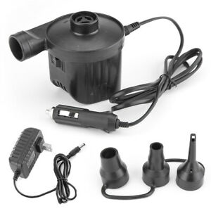 IC- JW_ Electric Air Pump Power Inflator Blower For Car Boat Paddling Pool Bed M