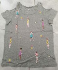 Justice Girls Cold Shoulder Fashion Tee, Gray, New-Unique-Trendy $26.90, Size 16