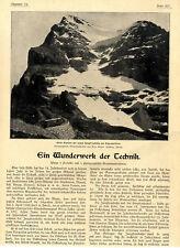 W. Berdrow Die Jungfraubahn am Eigergletscher Ein Wunderwerk der Technik v.1900