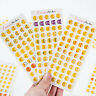 12 Sheets Cut  Sticker for Phone Laptop Decor Scrapbooking Students -WSFHWCSPUK
