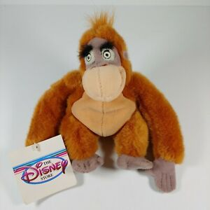 "Disney Store Jungle Book King Louie 8"" Mini Bean Bag Plush NWT"