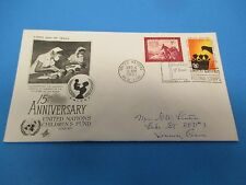 First Day Cover, United Nations Children's Fund, UNICEF, 15th Anniv., 1961, FDC