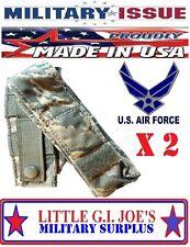 (2) Military Issue ABU Tiger Stripe Camo Molle Single 9MM magazine pouch Beretta