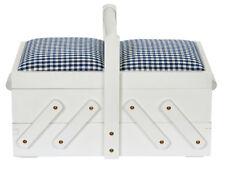 Prym Cesta de costura Caja madera S BLANCO CON TELA 36 x 19 23cm 612577