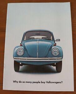 very rare 1969 BLUE volkswagen brochure