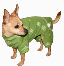 Hip Doggie Green Snowflake Long Johns Jumper Sz Large NWT