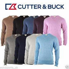 Wool Blend Patternless V Neck Jumpers & Cardigans for Men