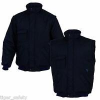 Delta Plus Panoply Medeo Black Mens Quilted Bomber Jacket Coat Bodywarmer Gilet