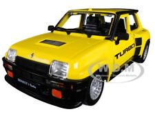 RENAULT 5 TURBO YELLOW W/ BLACK ACCENTS 1/24 DIECAST MODEL BY BBURAGO 21088