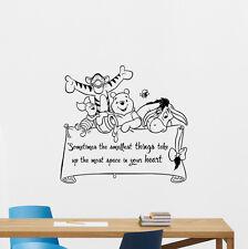 Winnie the Pooh Quote Wall Decal Disney Vinyl Sticker Nursery Decor Mural 253crt