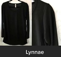NWT Lularoe Size Small Stretchy Solid NOIR Black Women's Lynnae T Shirt Top