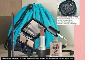Avon Large Drawstring Make up Bag - Blue - BNIP