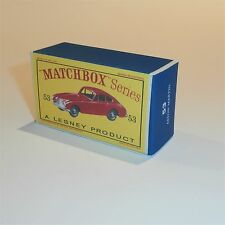 Matchbox Lesney 53 a Aston Martin empty Repro D style Box