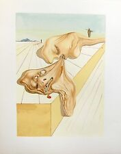 Salvador Dali 1960 DIVINE COMEDY INFERNO #30 Color Woodcut Wood Block Engraving