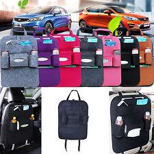 Auto Car Storage Multi-Use Pocket Organizer Car Seat Back Bag Accessories Black