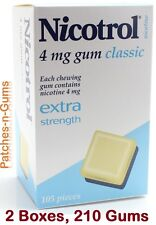 Nicotrol 4mg Nicotine Gum Classic Flavor. Extra Strength. 2 Boxes, 210 Pieces